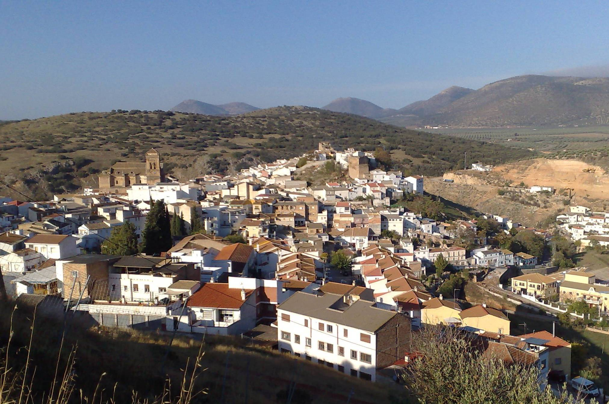 Iznalloz Views of the town Granada Andalucia